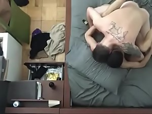 tattoed guy fucking asian