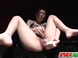 Sweet solo masturbation porn show with..